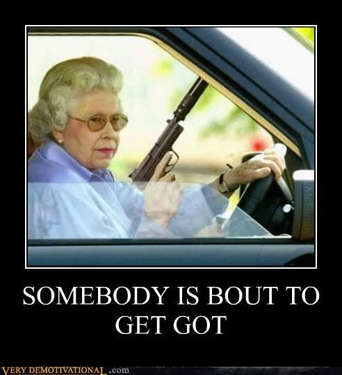 gangsta guns hilarious queen wtf - 5705183488