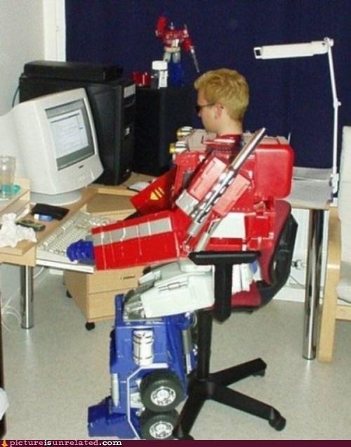 nerd,optimus prime,transformers,wtf