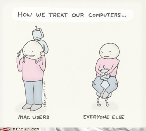 how we treat our computers,mac users,mac-vs-pc,PC users