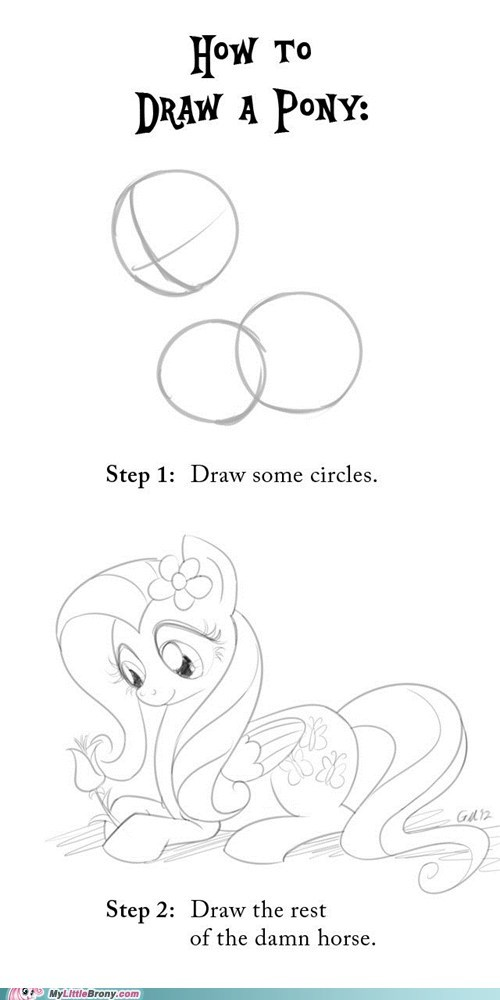 art drawing fluttershy ponies - 5705878016