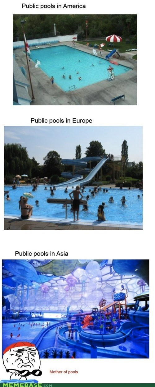 america,asia,europe,Memes,Party,pool