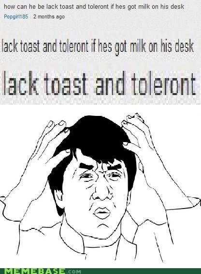 asia intolerant lactose Text Stuffs toast