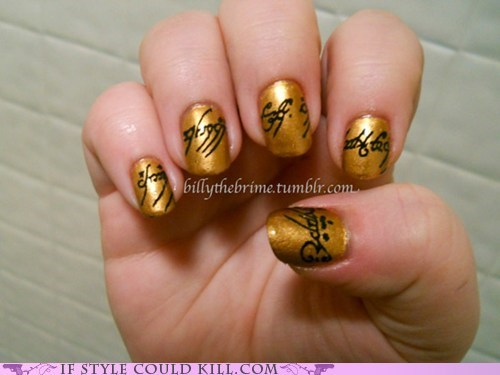 cool accessories,Lord of The Ring,nail art,nails
