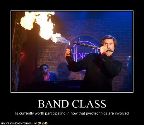 BAND CLASS Is currently worth participating in now that pyrotechnics are involved