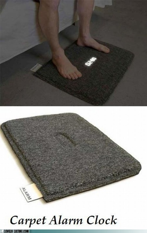alarm carpet clock mat rug - 5706412544