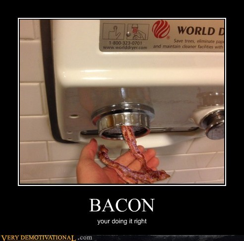 bacon doing it right hilarious