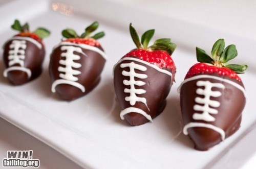 chocolate food football strawberries super bowl tasty