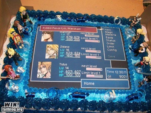 cake dessert final fantasy food nerdgasm RPG tasty video games - 5706491392