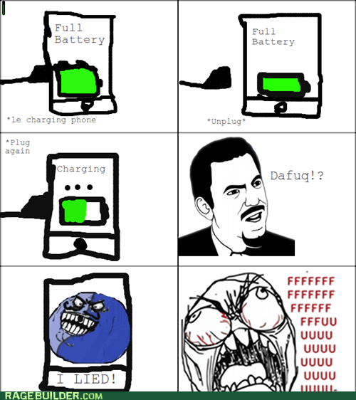 battery,fu guy,i lied,phone,Rage Comics