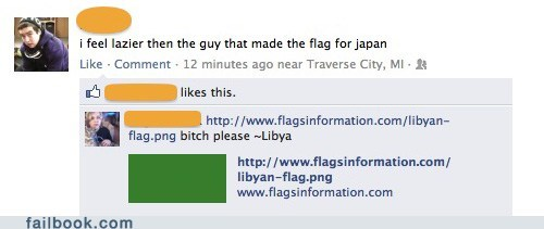 flags Japan lazy libya witty reply - 5706528256
