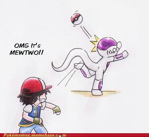 art,best of week,crossover,dragonball z,frieza,mewtwo