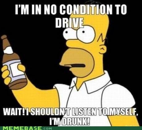 beer,drive,drunk,homer,Memes