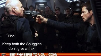 apollo Battlestar Galactica fine Frak jamie bamber lee adama michael hogan saul tigh Snuggies - 5706754560