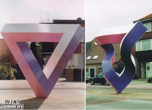 art metal perspective sculpture - 5706755072