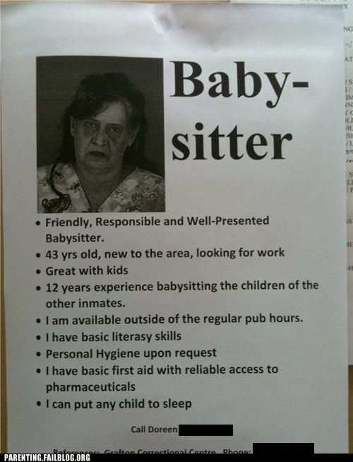 babysitter bad sitters do not hire g rated Hall of Fame parenting - 5707015936