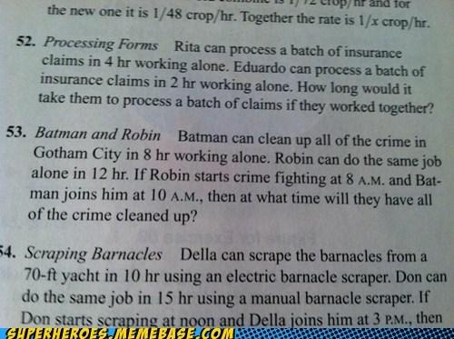 batman crime fighting math Random Heroics robin - 5707482624