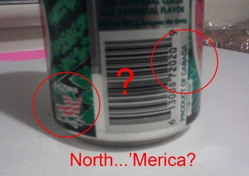 AMERRICA oh canada product fail wtf - 5707567104