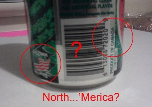 AMERRICA oh canada product fail wtf - 5707567104