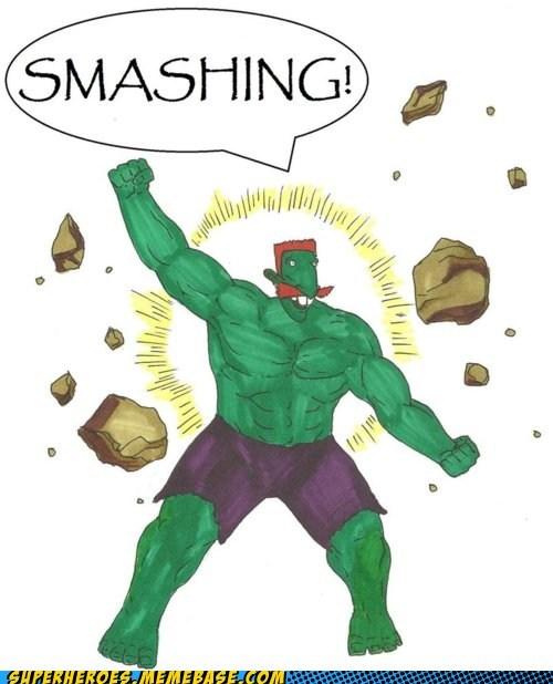 Awesome Art hulk nigel thornberry smashing - 5707644672