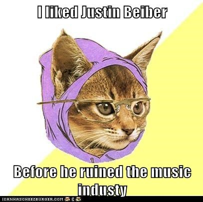 Cats,Hipster Kitty,hipsters,justin bieber,Music,music industry,musicians