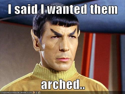 arched,eyebrows,i said,Leonard Nimoy,Spock,Star Trek,wanted