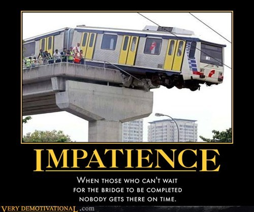 bridge hilarious impatience train wait - 5708258048