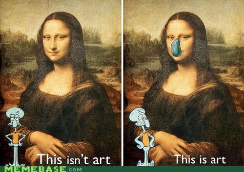 art Memes mona lisa nose squidward - 5708706560