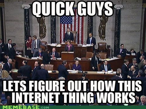 AOL blackout day Congress internet Memes world wide web