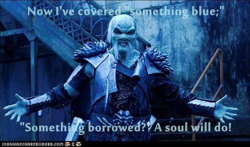 blue borrowed something soul Stargate stargate atlantis wedding wraith - 5708797440