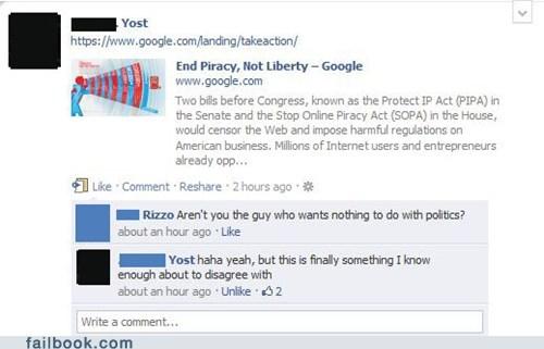 google honest PIPA politics SOPA - 5709400832