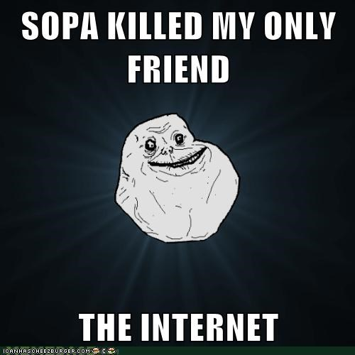 blackout day forever alone friends internet - 5709736192