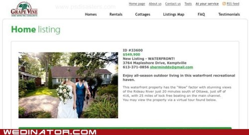 bride,funny wedding photos,house,mortgage,photoshop,photoshop disasters