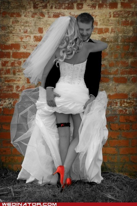 brides funny wedding photos heels