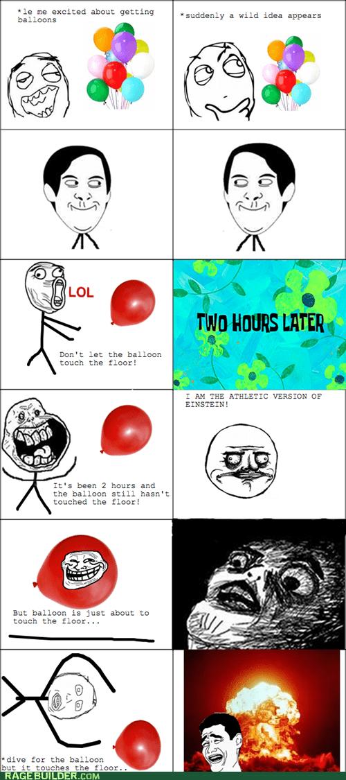 balloon,einstein,me gusta,Rage Comics,spiderpman