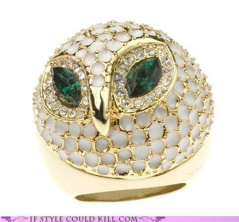 cool accessories,owls,ring of the day,rings
