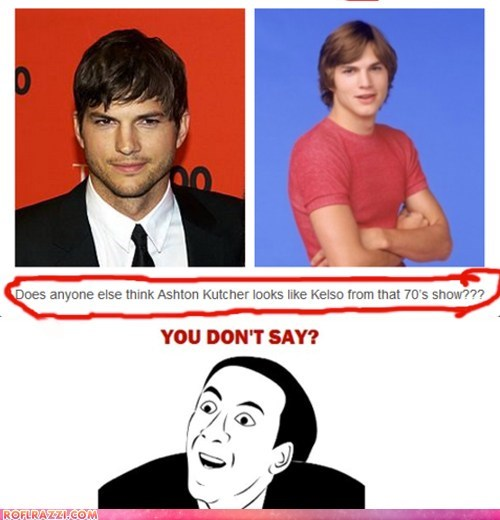 actor ashton kutcher celeb funny meme nicolas cage - 5710177536