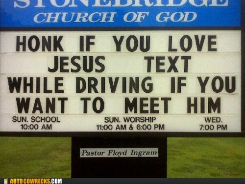 AutocoWrecks car accident church Death faith god g rated jesus religion texting while driving - 5710206720