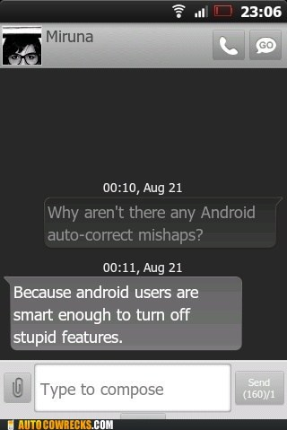 android,auto correct,AutocoWrecks,burn,g rated,Hall of Fame,smartphone wars,smartphones,texting