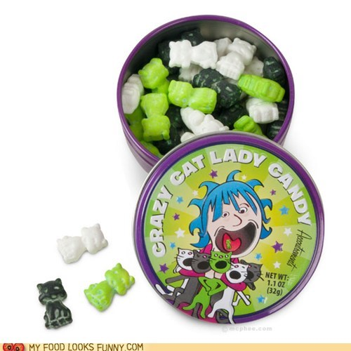 candy Cats crazy cat lady gross sugar sweets - 5710233856