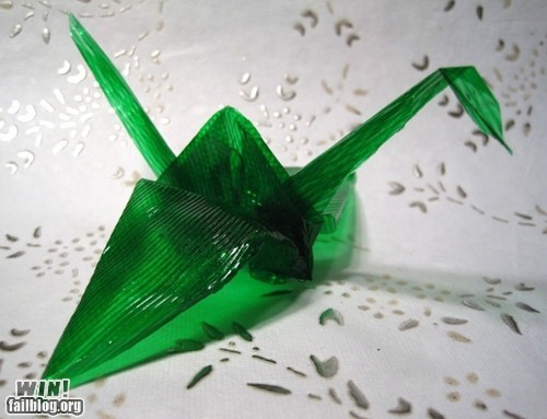 art,dessert,folding,food,Jello,origami,paper,paper crane