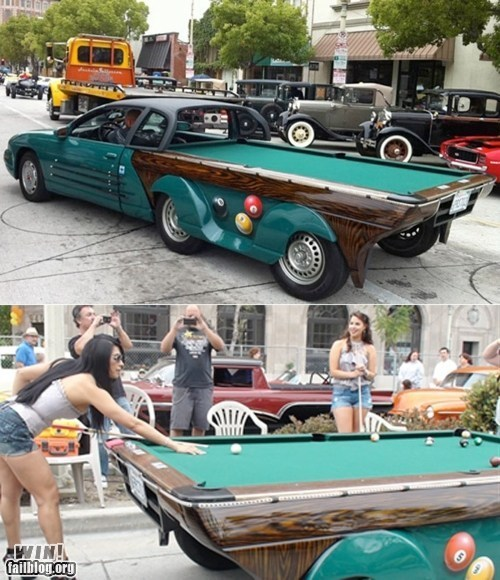 billiards car custom modification pool