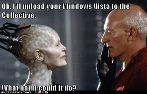 borg Borg Queen Captain Picard collective First Contact harm patrick stewart Star Trek Windows Vista