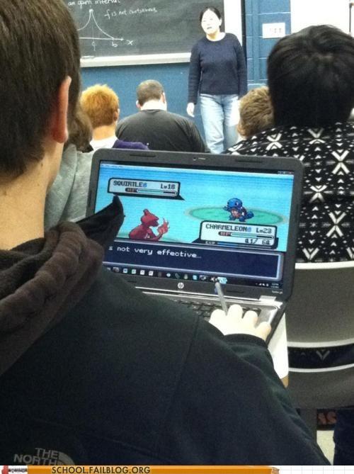 classroom,laptop,Pokémon