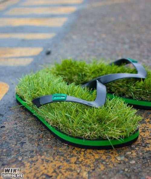 design,fashion,grass,sandal,shoes,weird