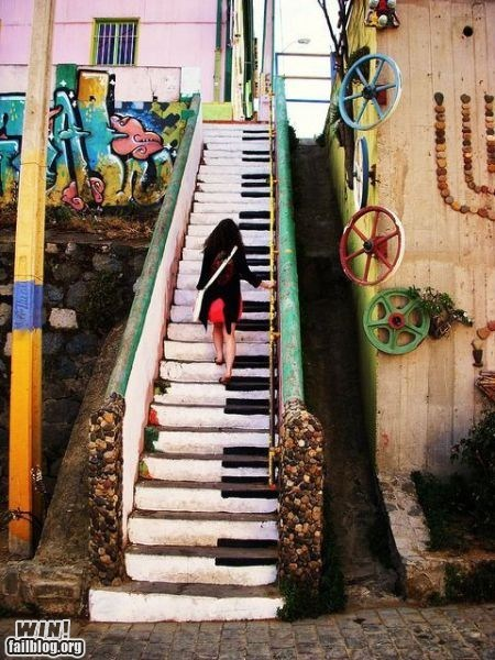 hacked irl Music piano stairs steps - 5710729472