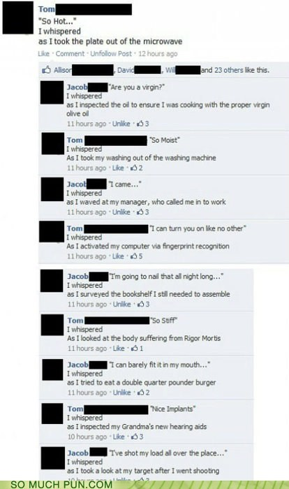 context double meaning facebook Hall of Fame innuendo literalism misinterpretation pickup lines - 5710868224