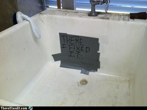 duct tape,plumbing,sink