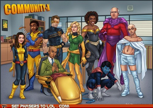 Abed,annie,art,community,cyclops,drawing,greendale,Jeff,troy,wolverine,x men