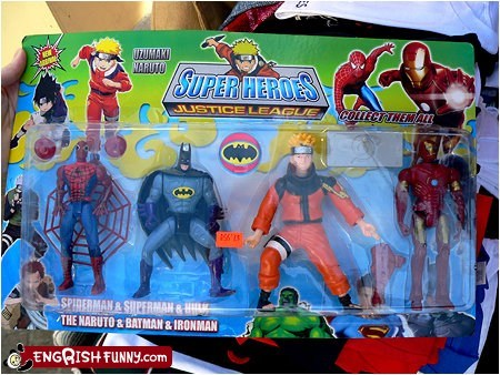 Hall of Fame justice league knock offs mixing up everything not the same