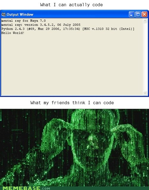 coding hello world How People View Me matrix neo the one - 5711789312